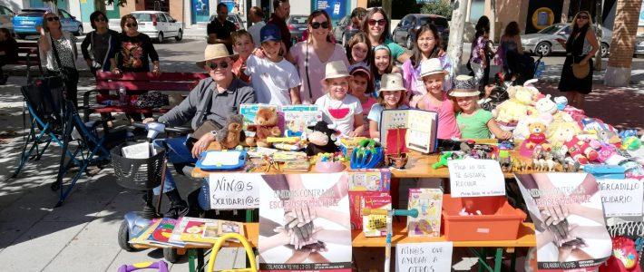 Niñ@s solidari@s en el 7º Mercado de Segunda Mano de Cabanillas